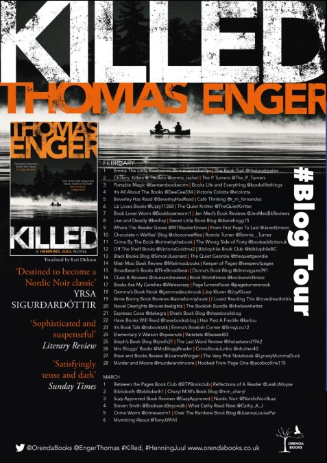 Killed Blog Tour Poster